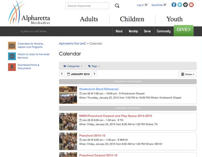 Portfolio Image of Alpharetta Calendar
