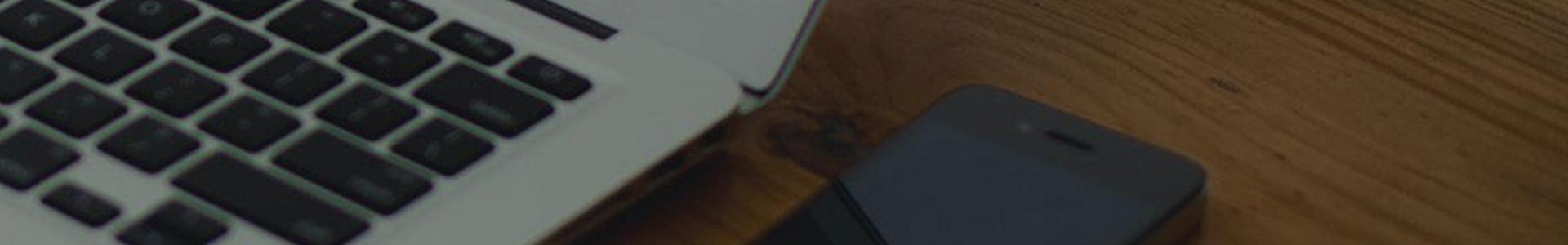 Banner showing website development